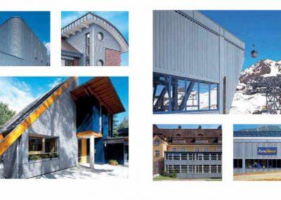 Esempi di rivestimenti di facciata con lastre ondulate